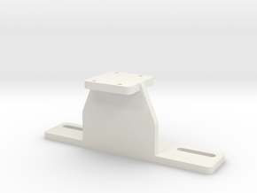 Projector mount direct bolt-on adapter in White Natural Versatile Plastic