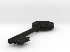Coraline button Key - featured in Black Natural Versatile Plastic