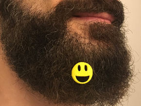 Smile for beard - front wearing in Yellow Processed Versatile Plastic