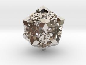 Intangle d20 in Platinum