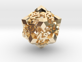 Intangle d20 in 14k Gold Plated Brass