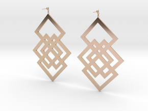 square in 14k Rose Gold Plated Brass
