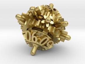 Clockwork Gears Dice in Natural Brass: d00
