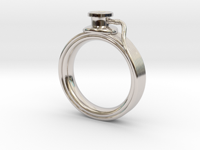 Stethoscope Ring in Platinum: 4 / 46.5