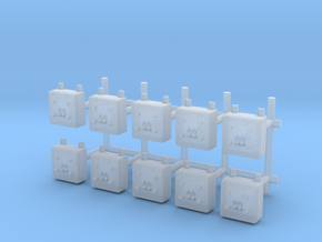 1/48 USN Wall Switch B Set x10 in Smooth Fine Detail Plastic