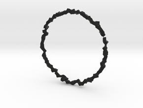 Bracelet of Cubes No.1 in Black Premium Versatile Plastic