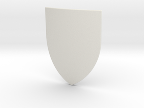 Heater Shield (Plain) in White Natural Versatile Plastic: Small
