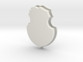 Polish Shield (Framed) in White Natural Versatile Plastic: Small