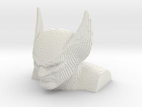 Wolverine voxelized in White Natural Versatile Plastic