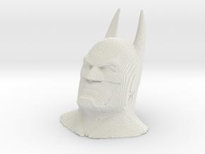 Batman voxelized in White Natural Versatile Plastic