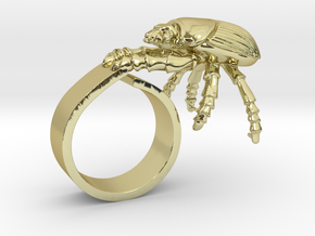 Good Luck Beetle in 18K Yellow Gold