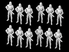 (Legion) 12x Clone Trooper Phase 2 in formation in Smooth Fine Detail Plastic