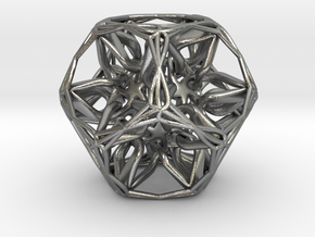 Organic Dodecahedron star nest in Natural Silver