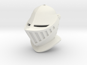 Closed Helm (For Crest) in White Natural Versatile Plastic: Small