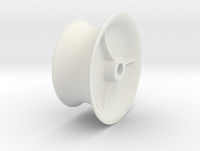 Capstan head for anchor winch in White Natural Versatile Plastic