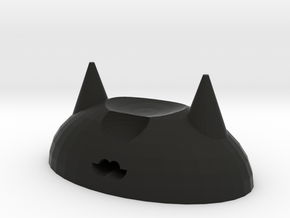 Cat chopsticks holder in Black Natural Versatile Plastic
