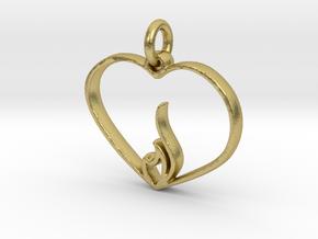 Embracing Intensity Pendant - metal in Natural Brass