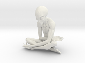25cm ET alien sculpture in White Natural Versatile Plastic: Extra Large