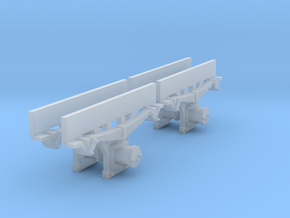 0m Axleboxes 2.7mm in Smooth Fine Detail Plastic: 1:45