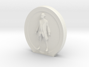 Cosmiton M George Washington - 60 mm in White Natural Versatile Plastic