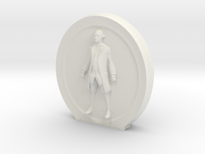 Cosmiton M George Washington - 70 mm in White Natural Versatile Plastic