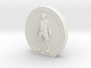 Cosmiton Fashion M - George Washington - 70 mm in White Natural Versatile Plastic