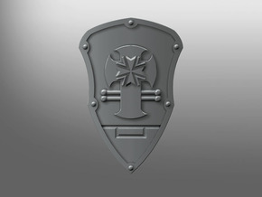 Iron Fist ptrn Energy Shield (B. Teutons) (left) in Smooth Fine Detail Plastic: Small