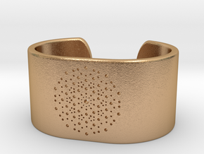 Quasicrystals Diffraction Pattern Bracelet - simpl in Natural Bronze