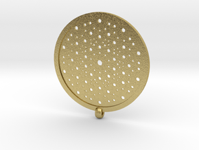 Quasicrystals Diffraction Pattern Pendant in Natural Brass