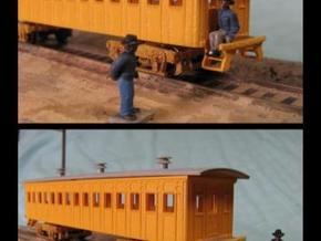 R02i N scale B&O 1856 passenger coach with int. in Smooth Fine Detail Plastic