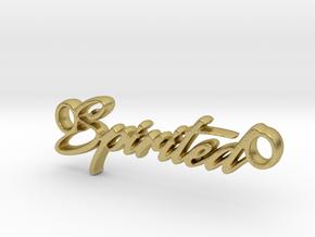 Spirited Pendant- Metal in Natural Brass