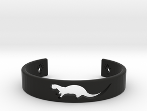 Otter Bracelet in Black Premium Versatile Plastic: Medium