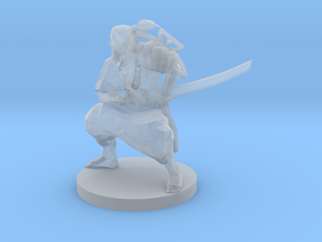 Samurai with Crossbow on back in Smooth Fine Detail Plastic