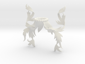 Rustic Mantling (Symmetrical) in White Natural Versatile Plastic: Small