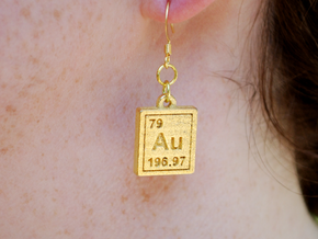 Products tagged au shapeways 3d printing gold periodic table earrings urtaz Image collections