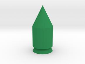 Small rocket in Green Processed Versatile Plastic
