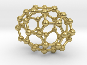 0667 Fullerene c44-39 c2v in Natural Brass