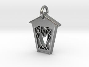 Owl Lantern Pendant - Silver in Natural Silver