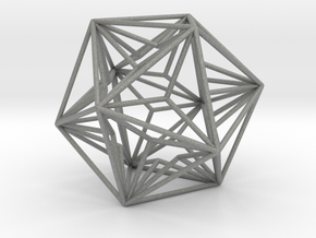 Great Dodecahedron in Gray Professional Plastic