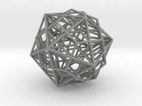 Great Dodecahedron / Dodecahedron Compound in Gray Professional Plastic