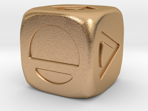 Star wars Sabacc Solo Dice Small 16mm in Natural Bronze