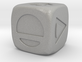 Star wars Sabacc Solo Dice Small 16mm in Aluminum