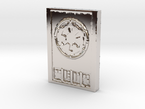 Star wars Sabacc Imperial credit chip in Platinum