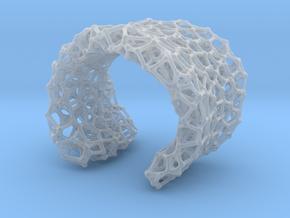 Cellular Cuff Bracelet in Smooth Fine Detail Plastic