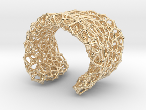 Cellular Cuff Bracelet in 14K Yellow Gold