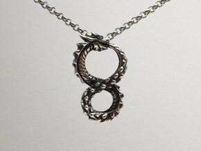 Ouroboros Dragon from Altered Carbon in Antique Silver