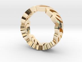 Logo ring in 14K Yellow Gold: 5.5 / 50.25