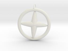 流星吊飾.stl in White Natural Versatile Plastic