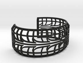 Tire Bracelet in Black Premium Versatile Plastic