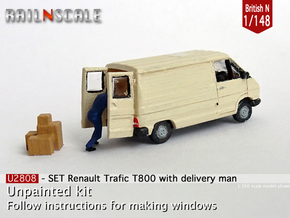 SET Renault Trafic w delivery man (British N 1:148 in Smooth Fine Detail Plastic
